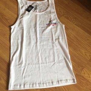 Volcom men's tank top/shirt white print.  Sz S